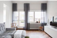 Ilusión techo alto con cortinas altas