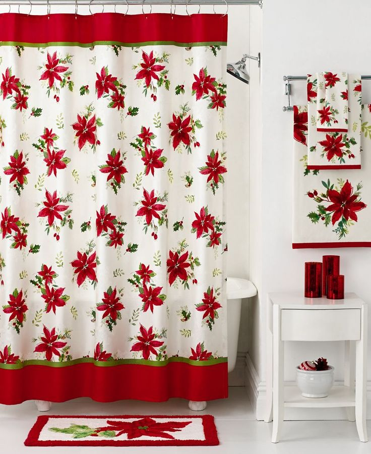 lenox bath accessories winter meadow holiday shower curtain