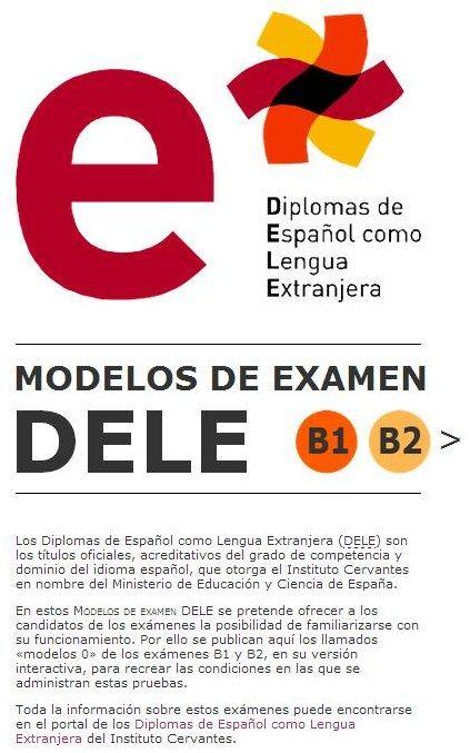 Modelo de examen en formato interactivo de los niveles B1 y B2.