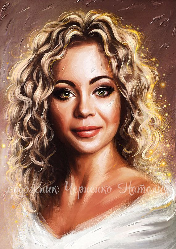 Painting From Your Photos Custom Lady Wedding Art