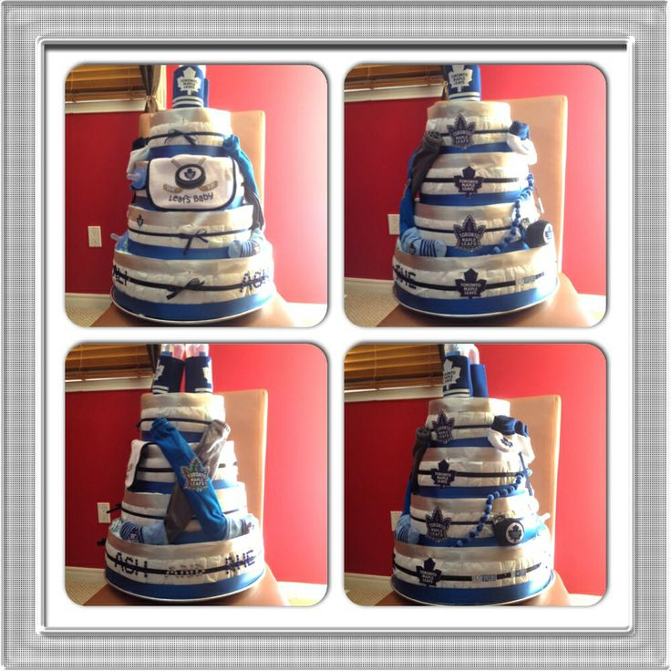 15 Best Hockey Diaper Cakes Images On Pinterest
