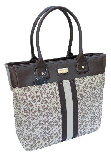 Tommy Hilfiger Large Handbag Tote, Gold/Brown *** To view further for this item, visit the image link.