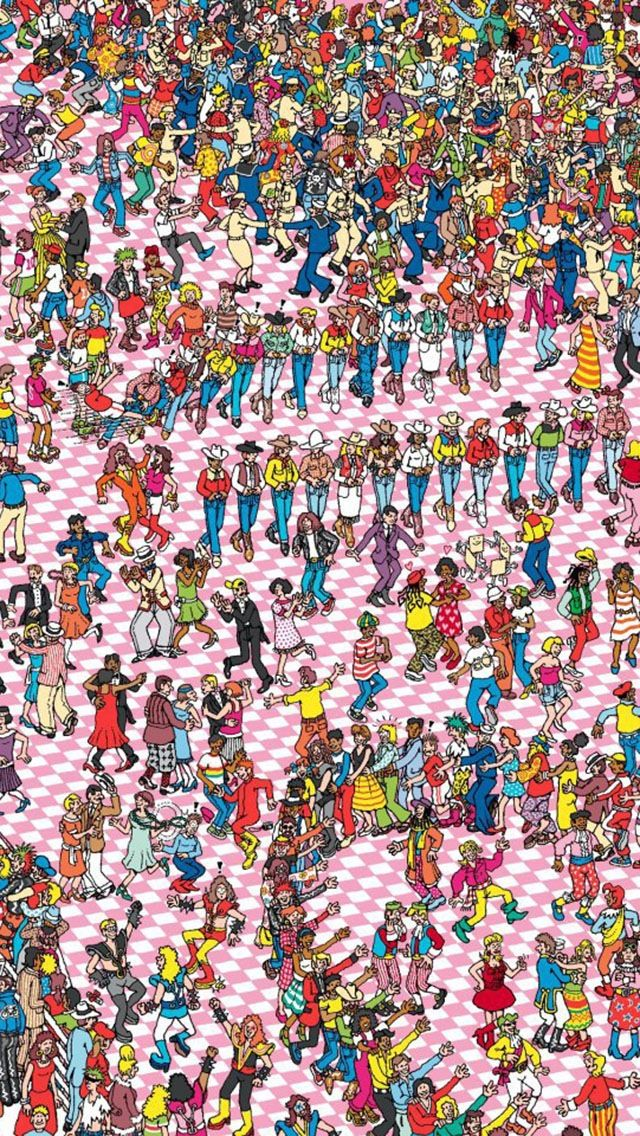 Where's Waldo iPhone 5 Wallpaper... whatcha up too!!!