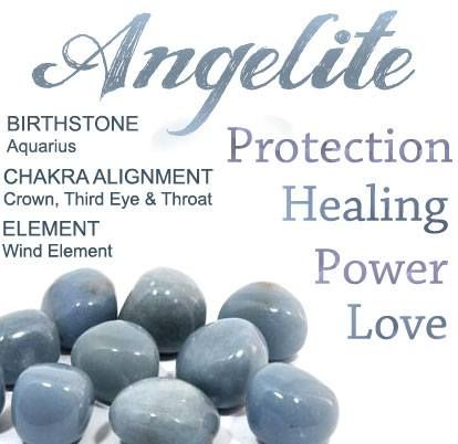 You'll love decorating your home with some of these heavenly Angelite crystals. They help calm fear and anxiety, so they're ideal for anyone with the Monday blues. Carry your very own protective angel around with you! http://www.crystalage.com/online_store/stone_type/angelite.cfm