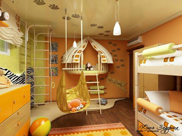 30 Ideen für Kinderzimmergestaltung - kinderzimmer gelbes ambiente gestalten ideen deko schön farben