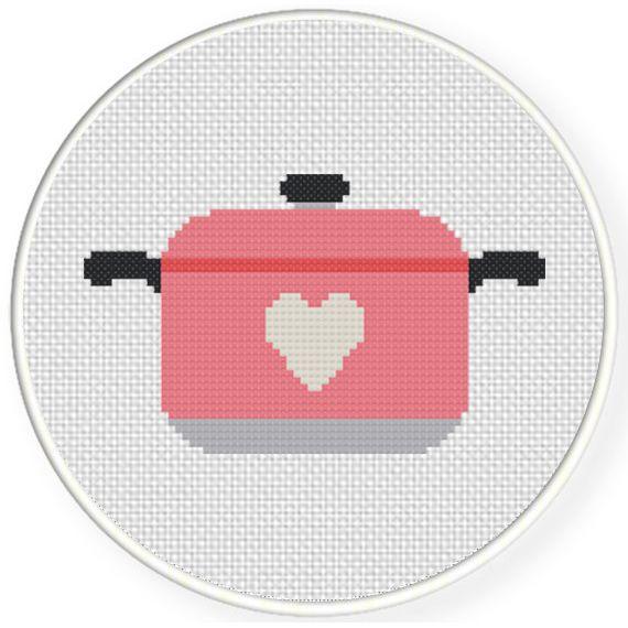 Charts Club Members Only: Casserole Love Cross Stitch Pattern