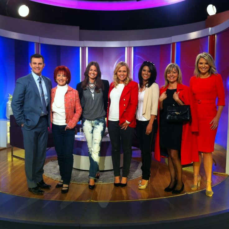 Roseys Models, with Faye DeLanty, David Campbell and Georgie Gardner on Channel 9s Mornings!