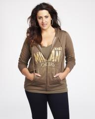 foil print hoodie | Shop Online at Addition Elle