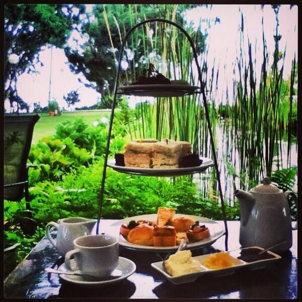 Afternoon tea overlooking the gardens at David Brown's restaurant on the top of Penang Hill. A great place to unwind and look over the city of Georgetown, Penang. #visitmalaysia