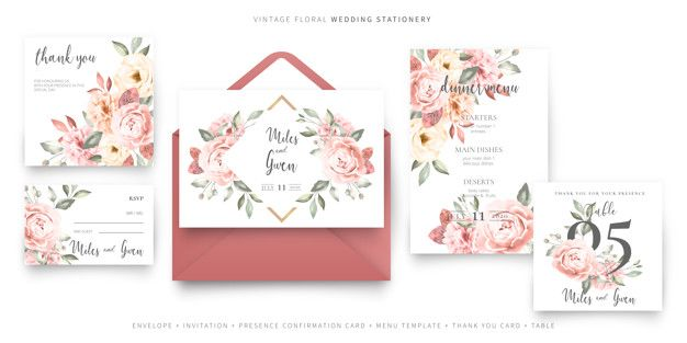 Download Vintage Wedding Invitation Card Template With Envelope Collection For Free Wedding Invitation Cards Vintage Wedding Invitations Wedding Invitation Card Template