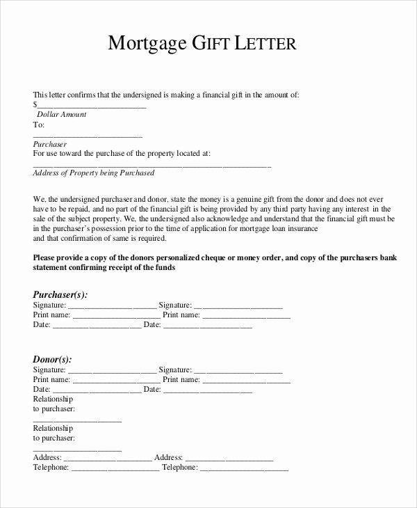 Mortgage Gift Letter Template Inspirational 13 Sample Gift Letters Pdf Word Letter Gifts Letter Template Word Lettering