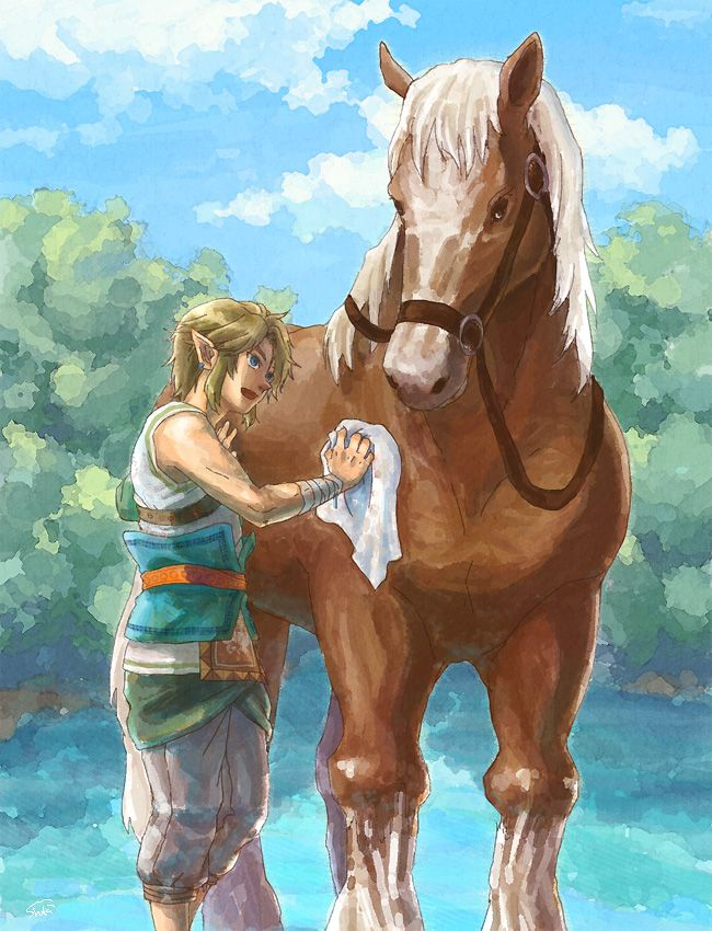 Link and Epona from Twilight Princess by shushu