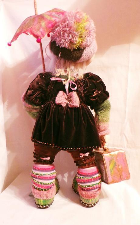 """Авторская кукла: """"Аленка. В гостях хорошо, а дома лучше."""""""