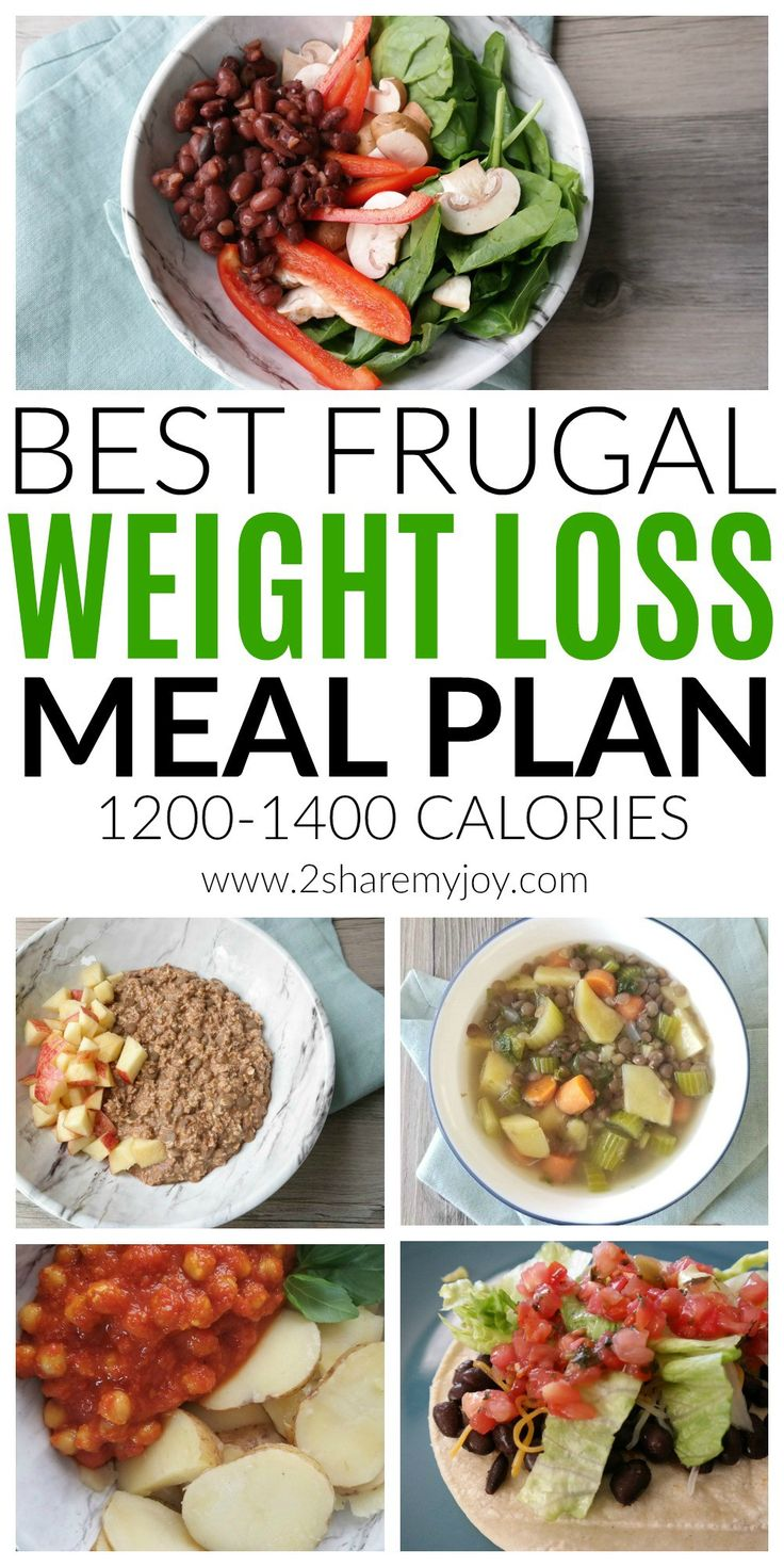 The best low calorie and frugal weight loss meal plan. Adjustable meal plan between 1200 and 1400 calories to save money and lose weight fast. Great plant based weight loss meal plan for beginners. All recipes are under 30 minutes and fit a vegan diet. Best weight loss meal plan on a budget. #weightloss #frugalmealplan #weightlossmealplan