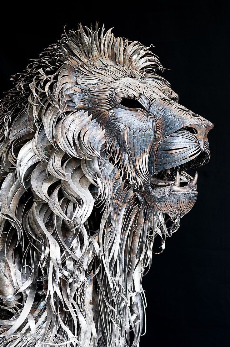 A Lion Made from 4,000 Pieces of Hammered Metal by Selçuk Yılmaz via This is Colossal