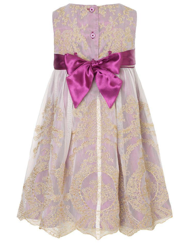Baby Rococco Dress | Purple | Monsoon