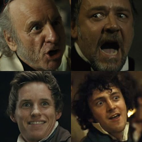 Les Miserables is a serious movie about serious things, guys.