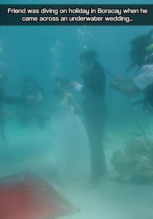 Underwater wedding…