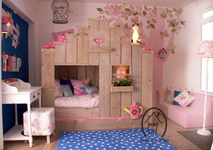 Kinderslaapkamer inrichting pinterest for Photo deco slaapkamer meisje