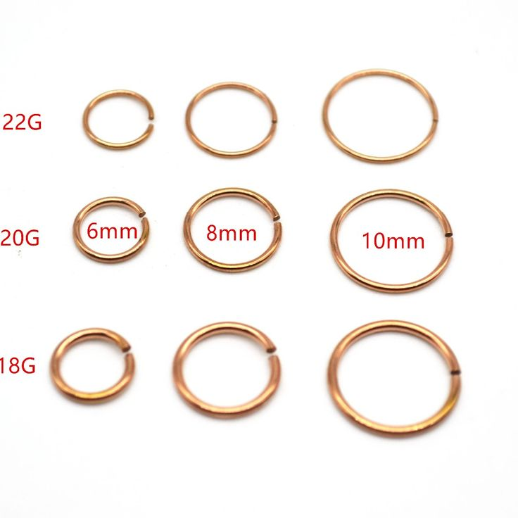 Rose Gold Hoop Nose Ring Fake Ear Clip  22G 20G 18 Gauge 8mm Popular Body Piercing Jewelry Wholesale 316L Stainless Steel