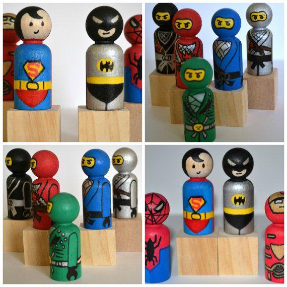 Ninjago Birthday or Superhero Cake Toppers  by DreamAndCraft, $7.00