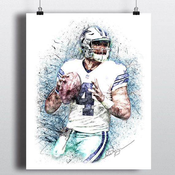 Dak prescott free colouring pages for Dak prescott coloring pages