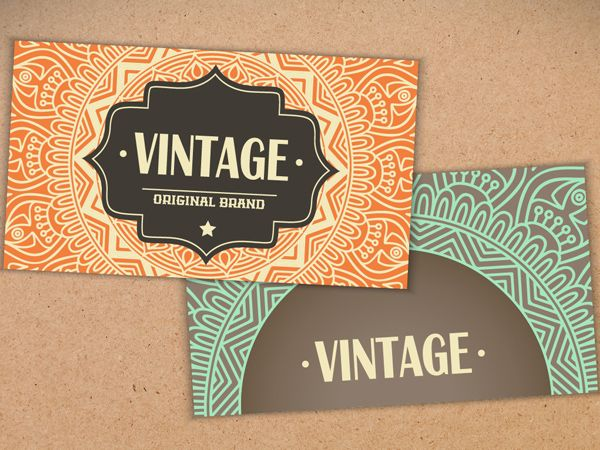 Business Card in Ethnic Style #businesscards #businesscardtemplates #custombusinesscards