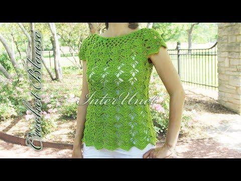 Crochet Top Down Blouse