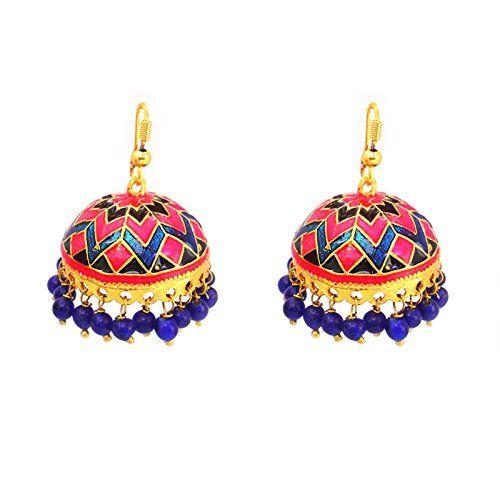 Designer Multicolor Tokri Jhumki