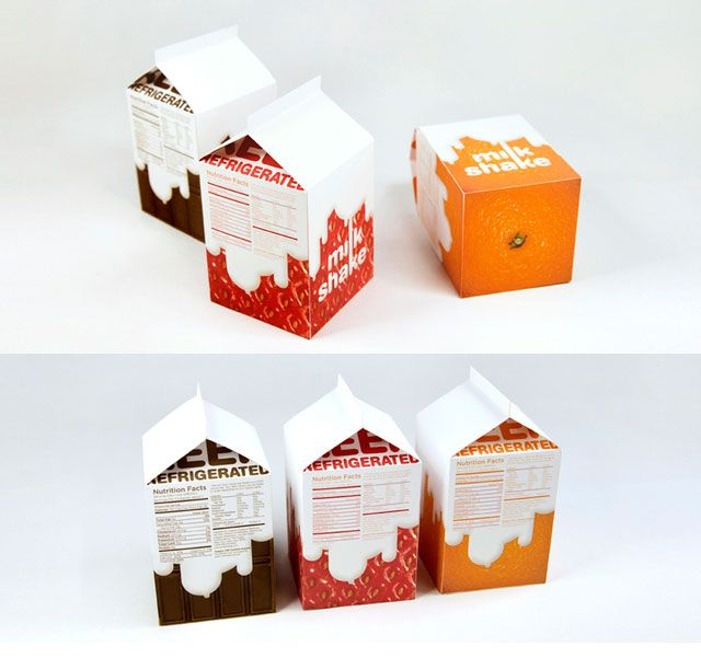MILK BOX PACKAGING DESIGN  CUTE DESIGN  MILKSHAKE BY CHEUNGYOON KIM