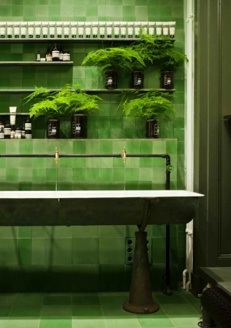Interior design | decoration | home decor | bathroom | Aesop store Berlin by Weiss-heiten.