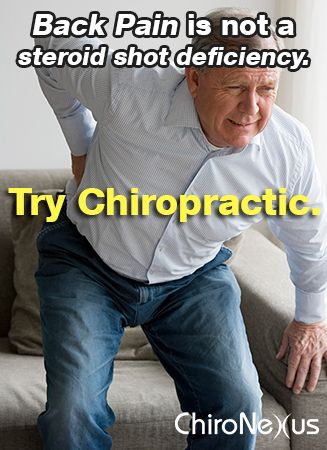 Chiropractic adjustments were just as effective as epidural injections for patients with back pain in a new study — without the risks and at lower cost http://www.chironexus.net/2013/06/chiropractic-as-effective-as-epidural-injections-for-back-pain/203122.