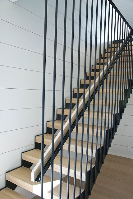 Modern staircase by Grado. Honka showhouse Markki, Housing fair 2016, Finland.