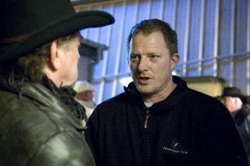 Billeder fra forskellige produktioner som Dennis Albrethsen har været involveret i Frihed på prøve, Erik Clausen og Dennis Albrethsen