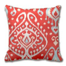 Chic Modern Teal Red Girly Ikat Tribal Pattern Pillow Decorative Cushion Cover Pillow Case Customize Gift By Lvsure For Car Sofa(China (Mainland))