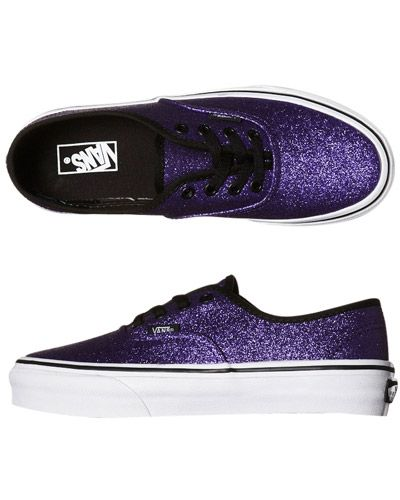 SURFSTITCH - KIDS - GIRLS CLOTHING - FOOTWEAR - VANS KIDS AUTHENTIC SHOE - GLITTER HELIOTROPE