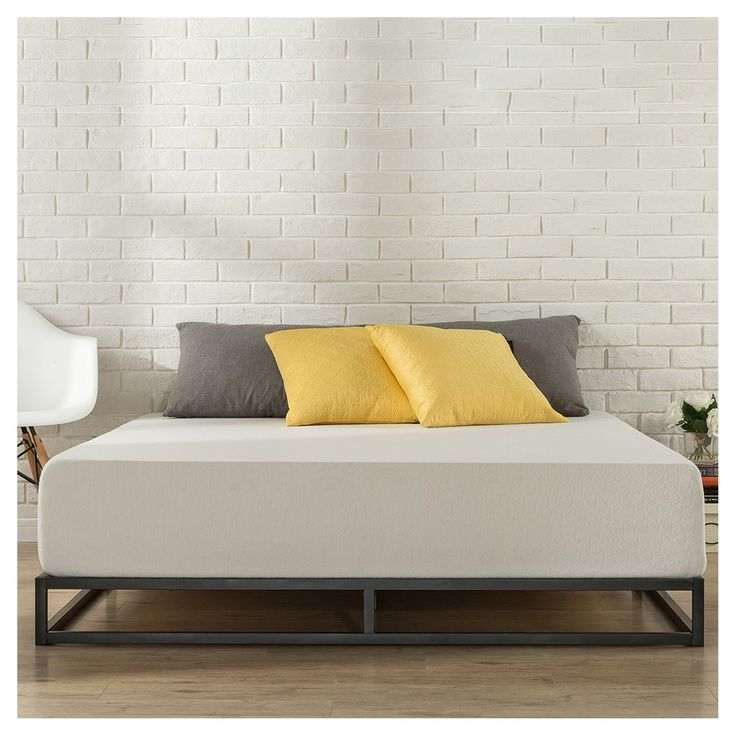 6 Platforma Metal Bed Frame - Queen - Black - Zinus