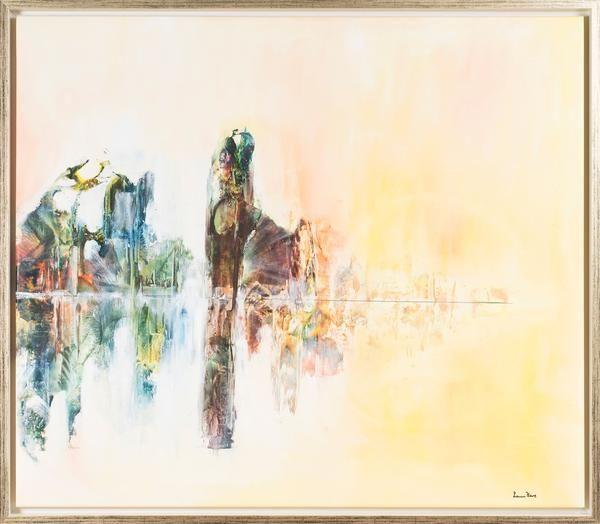 """Louise Hävre - """"Golden Oppartune"""" finns att köpa hos oss på Galleri Melefors / is avialable for purchase at Galleri Melefors #louisehävre #louise #hävre #havre #art #painting #oil #interiordesign #design # #decoration #light #abstract #colors #forsale #konst #målning #olja #interiör #inredning #dekoration #ljus #abstrakt #tillsalu #gallerimelefors #melefors"""