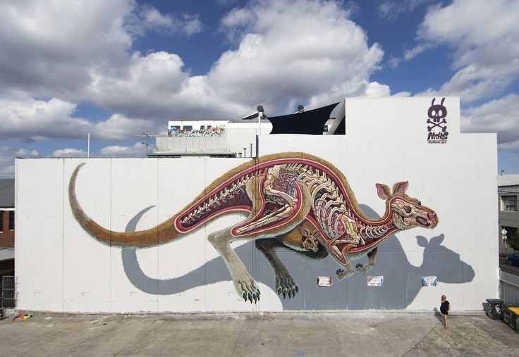 Incredible Street Artist Nychos Reveals the Anatomy Many Characters