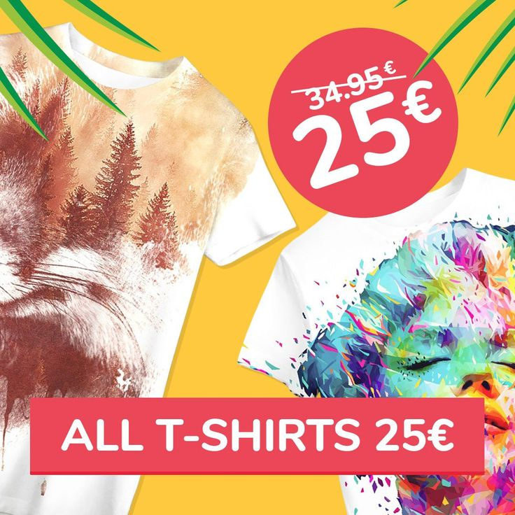 Goal for this weekend: summer wardrobe!   All T-SHIRTS only 25€ 😍  👉liveheroes.com/en/shop/women/t-shirt?special=featured👈