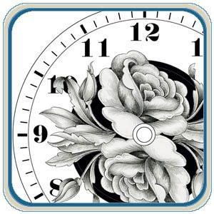 Floral Clock Patterns