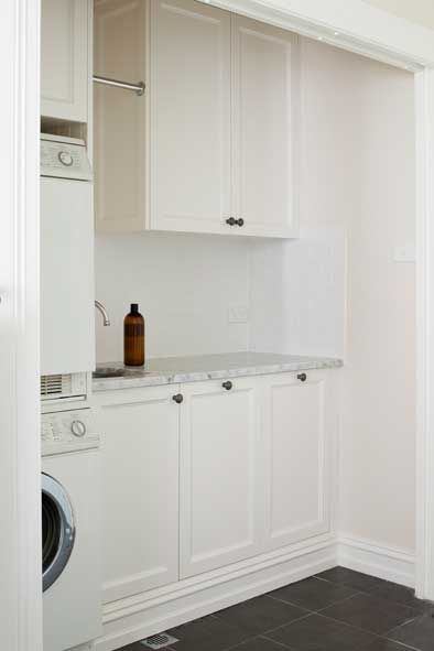 Love the small hanging space for drying.     Laundry - Provincial Kitchens Sydney