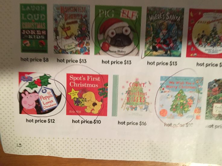 Some circled Christmas books of interest