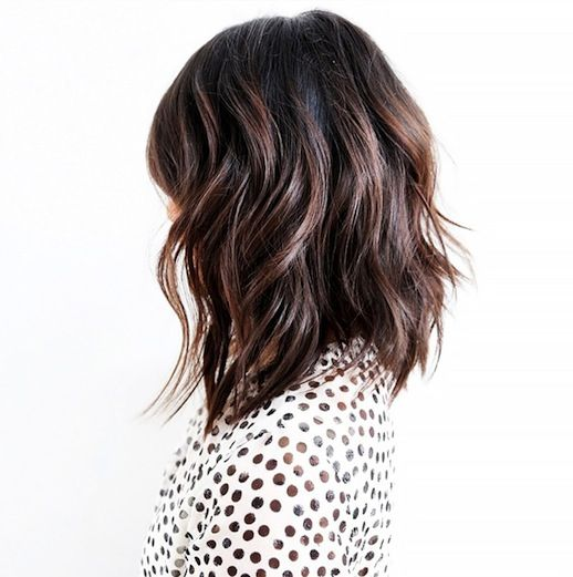 2 Le Fashion Blog 25 Inspiring Long Bob Hairstyles Haircut Lob Brunette Brown Wavy Hair