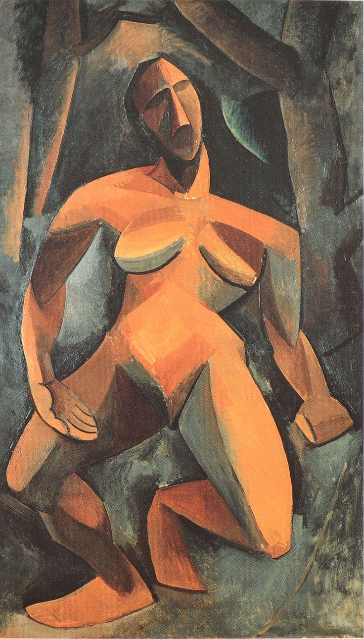 """""""La driada"""", Picasso, PROTOCUBISMO"""