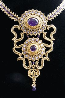 blog raphaële s  CR...made with 24 carat beads
