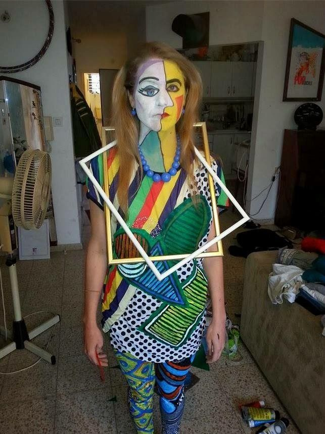 my nine year old sister made this picasso halloween costume - Great Halloween Ideas
