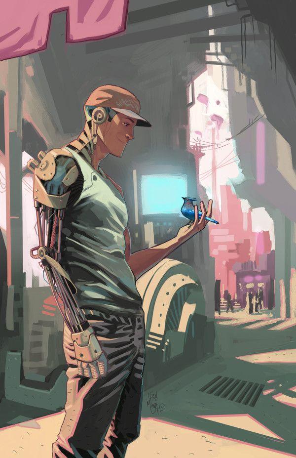 cyborg by Dan Mora, via Behance join us http://pinterest.com/koztar