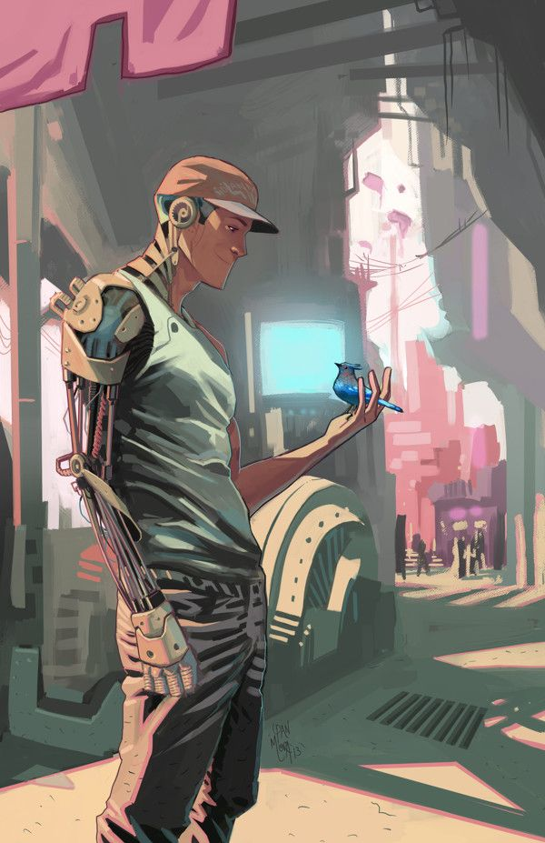 cyborg by Dan Mora, via Behance join us http://pinterest.com/koztar