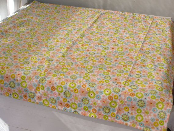 Modern baby girl stroller blanket floral by BlackTulipQuilts, $40.00